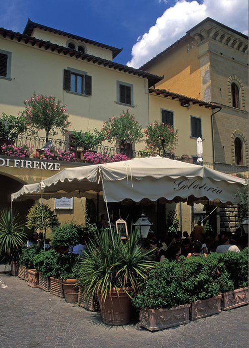 Italy Greeting Card featuring the photograph Corner Gelateria by Kathy Yates