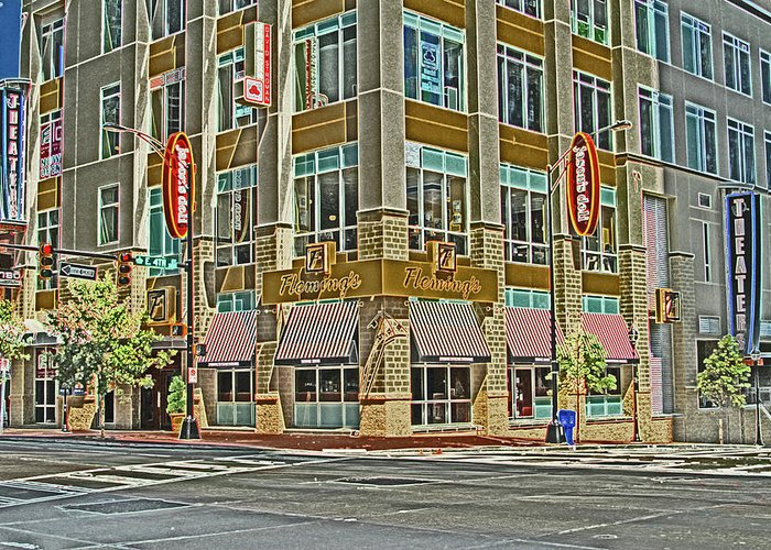 Corner Greeting Card featuring the photograph Corner Of 4th by Karol Livote