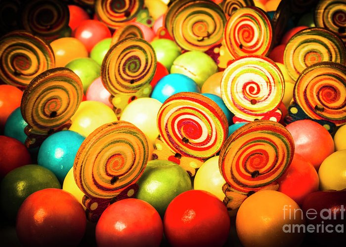 Colourful Greeting Card featuring the photograph Corner Store Candies by Jorgo Photography - Wall Art Gallery