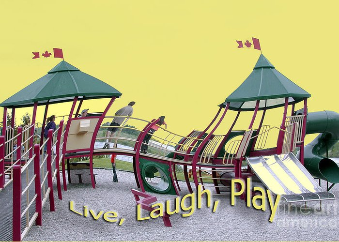 Playground Greeting Card featuring the photograph Cornwall Play by Jacqueline Milner