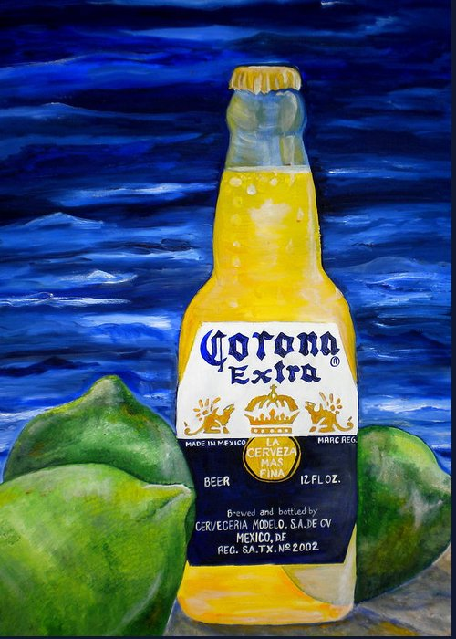 Corona Greeting Card featuring the painting Corona by Patti Schermerhorn