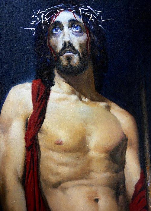 Altar Greeting Card featuring the painting Coronation B by Valeriy Mavlo