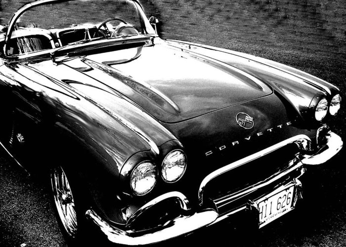 Car Greeting Card featuring the photograph Corvette by Audrey Venute