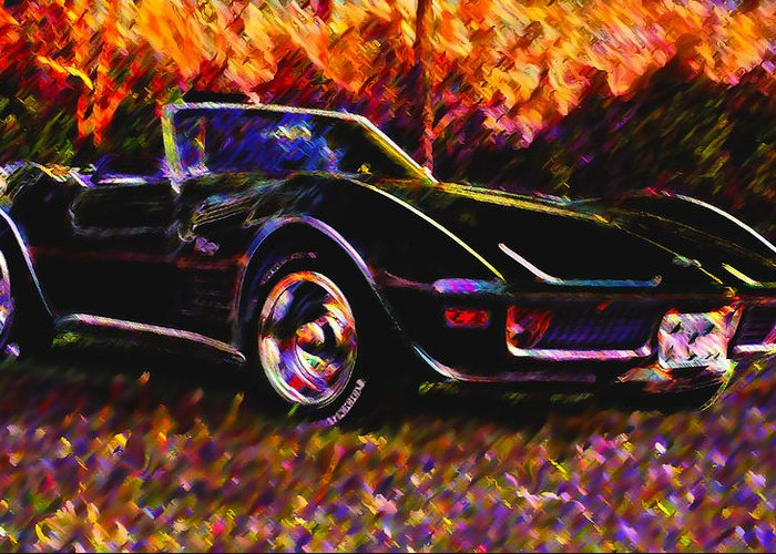 Corvette Greeting Card featuring the photograph Corvette Beauty by Stephen Anderson