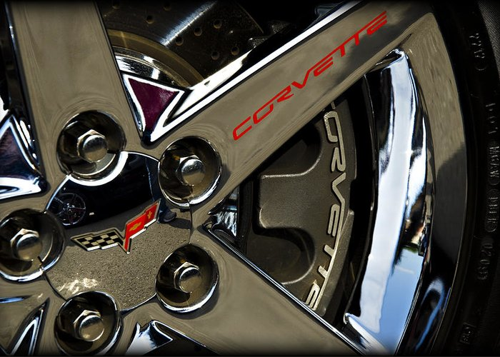 Corvette Greeting Card featuring the photograph Corvette Spokes II by Ricky Barnard