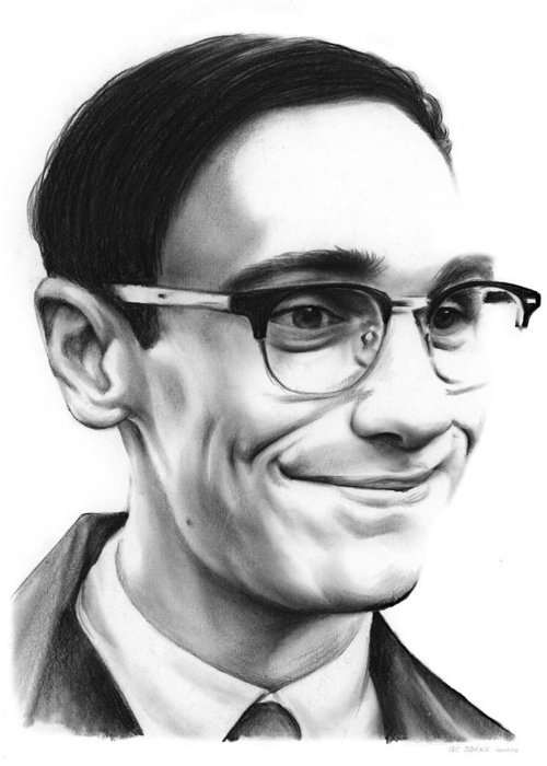 Cory Michael Smith Greeting Card featuring the drawing Cory Michael Smith by Greg Joens