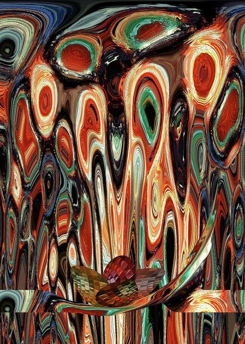 Clan Greeting Card featuring the digital art Cosmic Nurturing by Beverly Kimble Davis