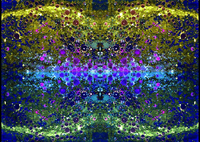 Abstract Greeting Card featuring the photograph Cosmos Crown Jewels 2 by Angelina Vick