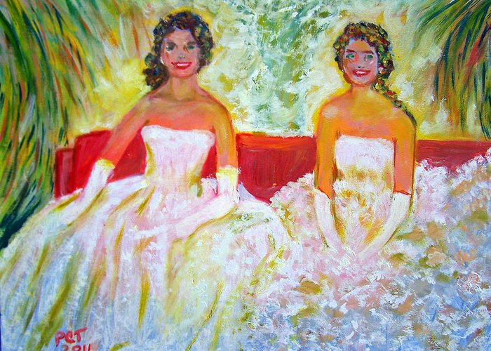 White Formal Dresses Greeting Card featuring the photograph Cotillion by Patricia Taylor