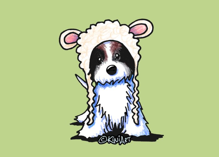 Coton Greeting Card featuring the drawing Coton De Tulear by Kim Niles