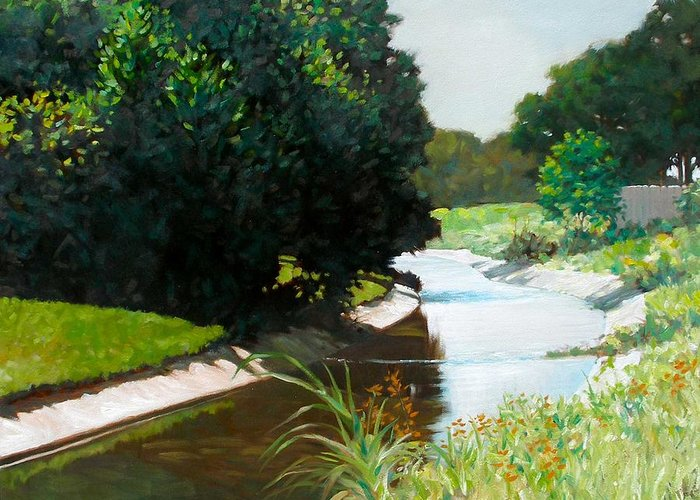 Landscape Greeting Card featuring the painting Coulee by Kevin Lawrence Leveque