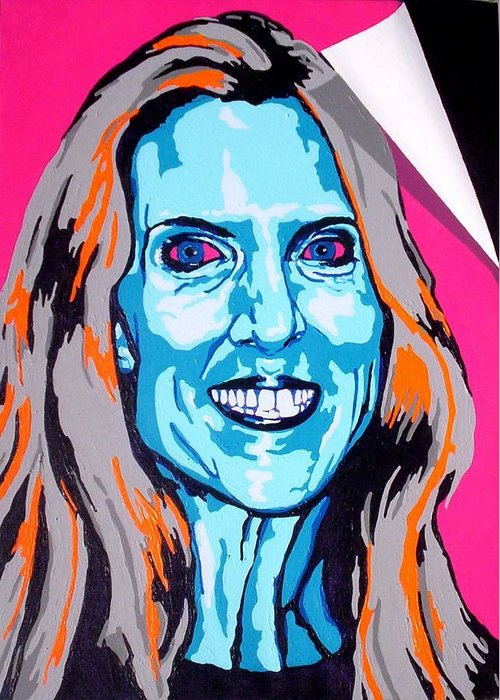 Politics Greeting Card featuring the painting Coulter by Dennis McCann