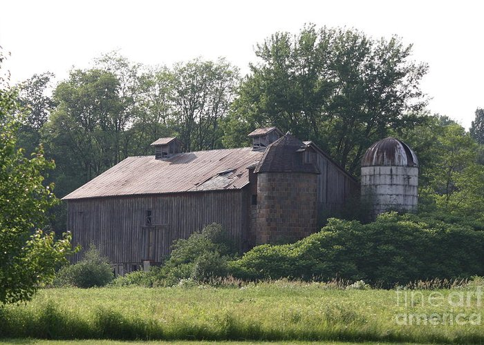 Country Greeting Card featuring the photograph Country Barn by Jennifer Francisco