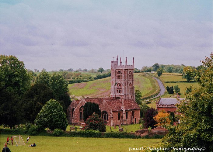 England Greeting Card featuring the photograph Country Church Wadsworth, England by Diane Shirley