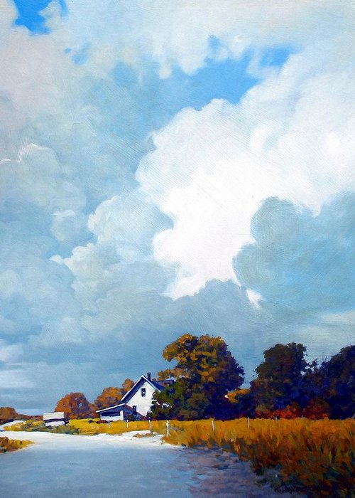 Landscape Greeting Card featuring the painting Country Home by Kevin Lawrence Leveque