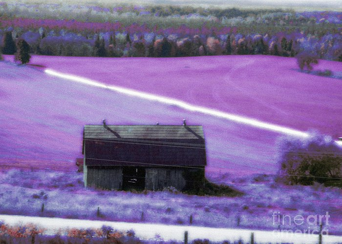 Barn Greeting Card featuring the mixed media Country Life by Scarlet Sima