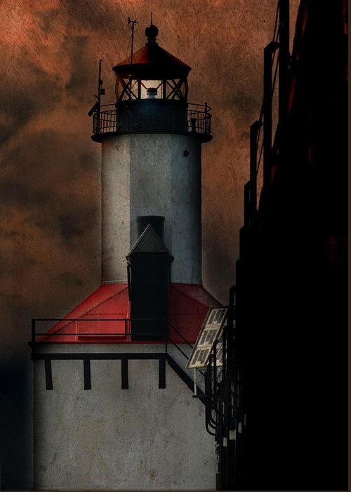 Lighthouse Greeting Card featuring the photograph Country Lighthouse by Kim Blaylock