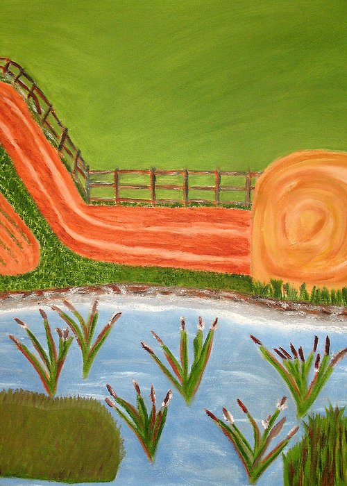 Lanscapes Greeting Card featuring the painting Country Livin by Edwin Long