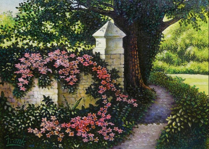Flowers Greeting Card featuring the painting Country Path by Michael Frank
