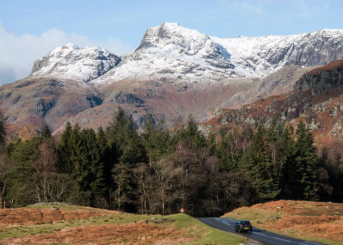 Lake District Greeting Card featuring the photograph Country Road by Susan Tinsley
