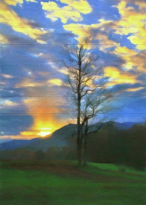 Gatlinburg Tennessee Paintings Greeting Cards