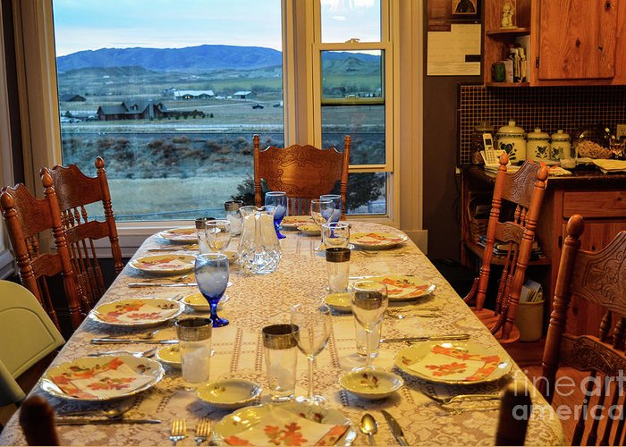 Indoors Greeting Card featuring the photograph Country Table Setting by James Stewart