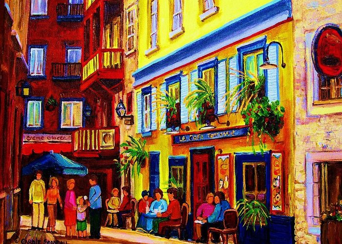 Montreal Buildings Paintings Greeting Cards