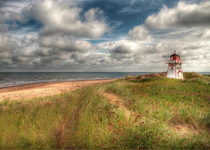 Covehead Greeting Card featuring the photograph Covehead Lighthouse by Elisabeth Van Eyken