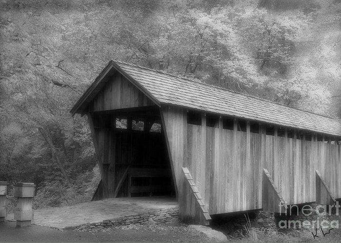Covered Bridge Greeting Card featuring the photograph Covered Bridge by Karol Livote