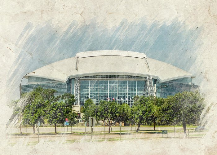 Dallas Greeting Card featuring the photograph Cowboys Stadium by Ricky Barnard
