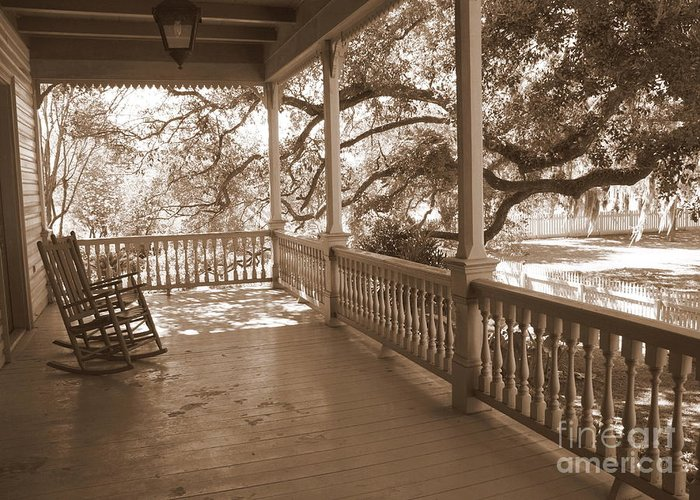 Porch Greeting Card featuring the photograph Cozy Southern Porch by Carol Groenen