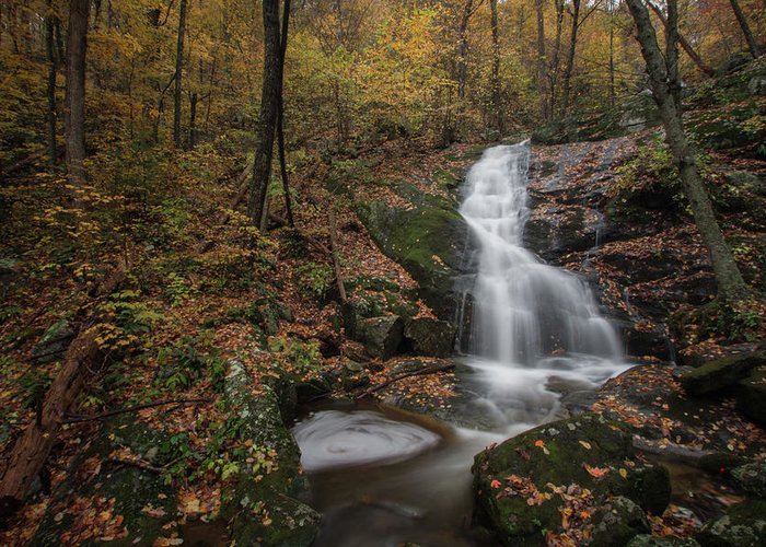 Greeting Card featuring the photograph Crabtree Falls by Steve Hammer