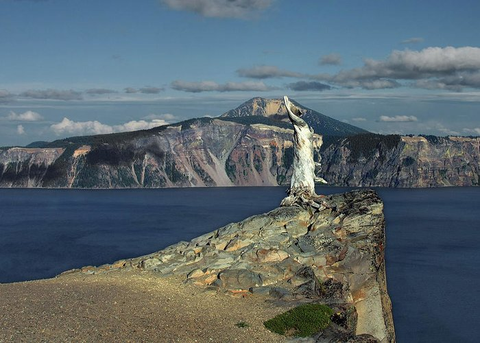 Peaceful Greeting Card featuring the photograph Crater Lake - A Most Sacred Place Among The Indians Of Southern Oregon by Christine Till