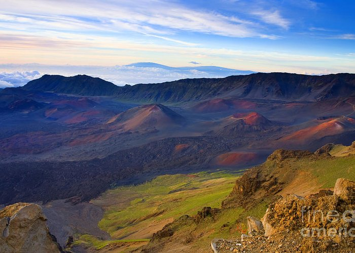 Haleakala Greeting Card featuring the photograph Craters Of Paradise by Mike Dawson