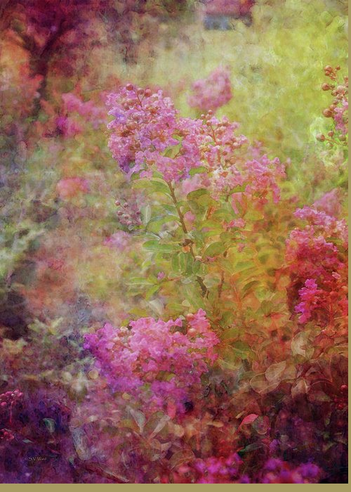 Crepe Garden Greeting Card featuring the photograph Crepe Garden 1776 Idp_2 by Steven Ward