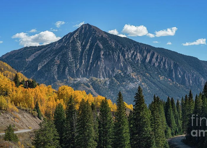 Crested Butte Greeting Card featuring the photograph Crested Butte Mountain by Michael Ver Sprill