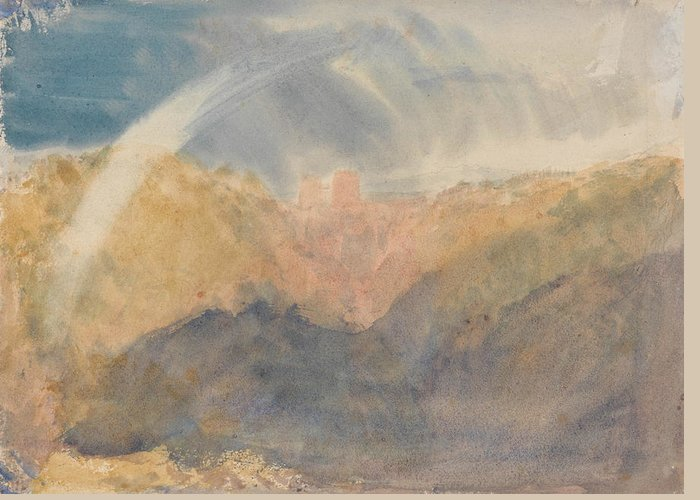 19th Century Art Greeting Card featuring the painting Crichton Castle by Joseph Mallord William Turner