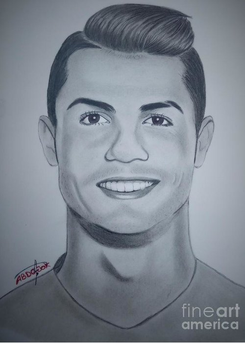 Cristiano Ronaldo Greeting Card For Sale By Abdo Jouk