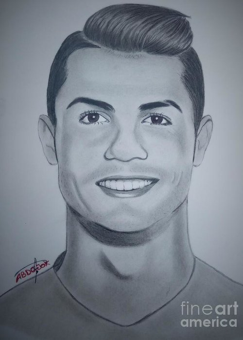 Cristiano Ronaldo Greeting Card For Sale By Abdo Jouk