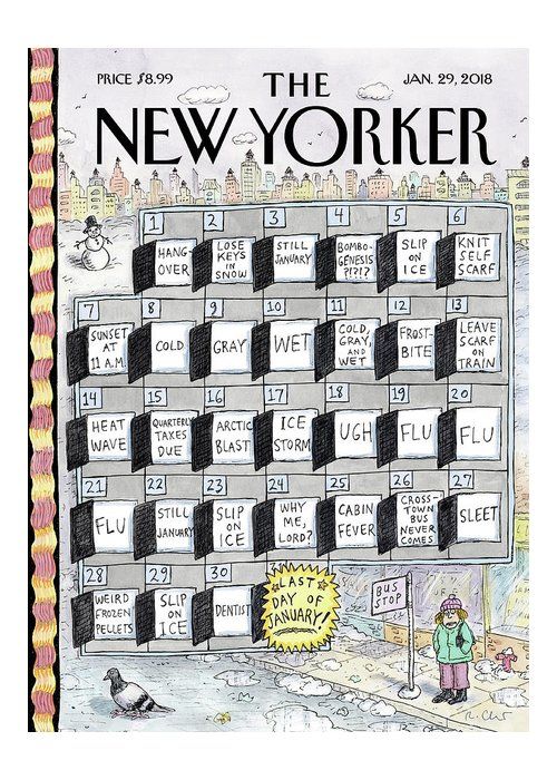 Cruellest Month Greeting Card featuring the drawing Cruellest Month by Roz Chast