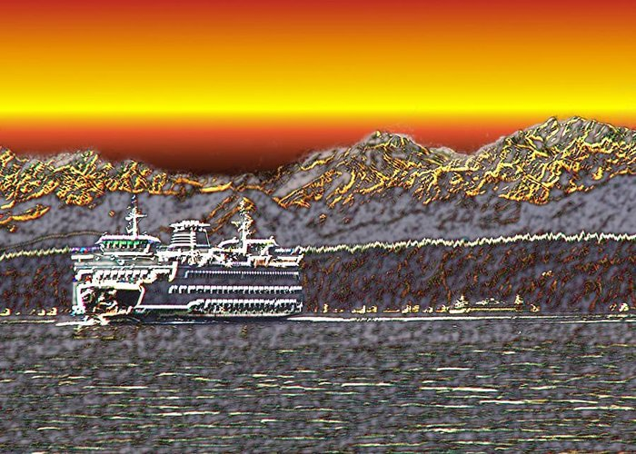 Seattle Greeting Card featuring the photograph Cruisin The Sound by Tim Allen