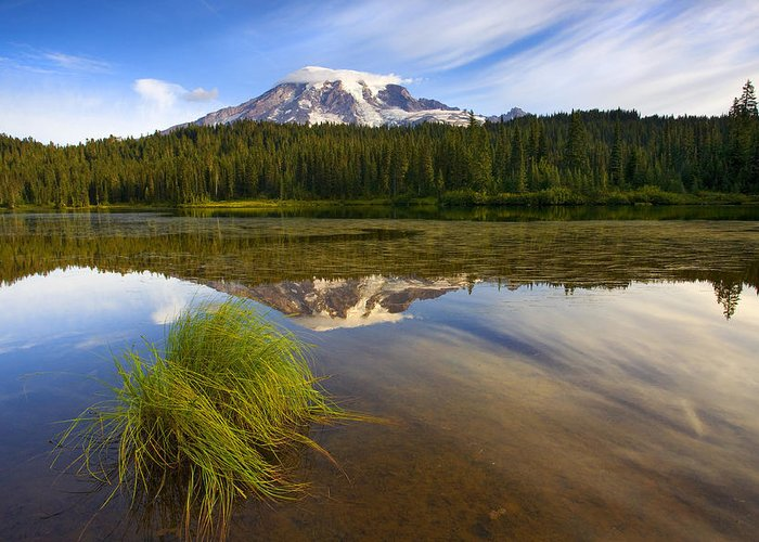 Lake Greeting Card featuring the photograph Crystal Clear by Mike Dawson