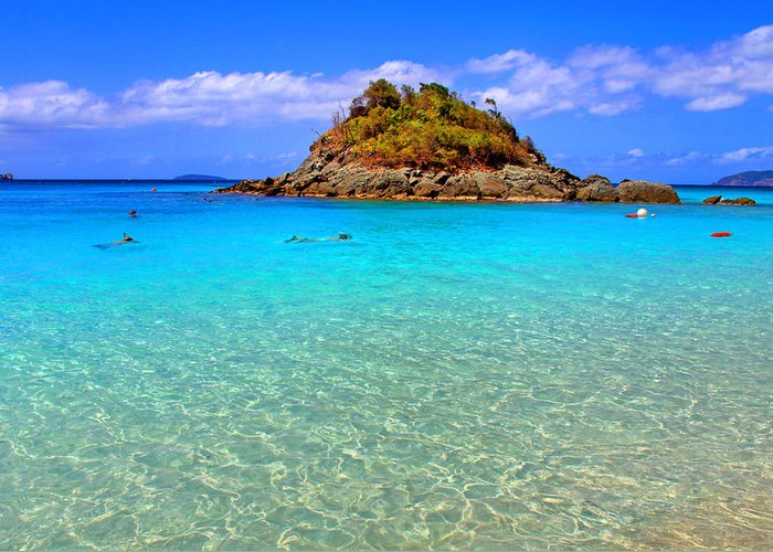 Beach Greeting Card featuring the photograph Crystal Waters by Scott Mahon