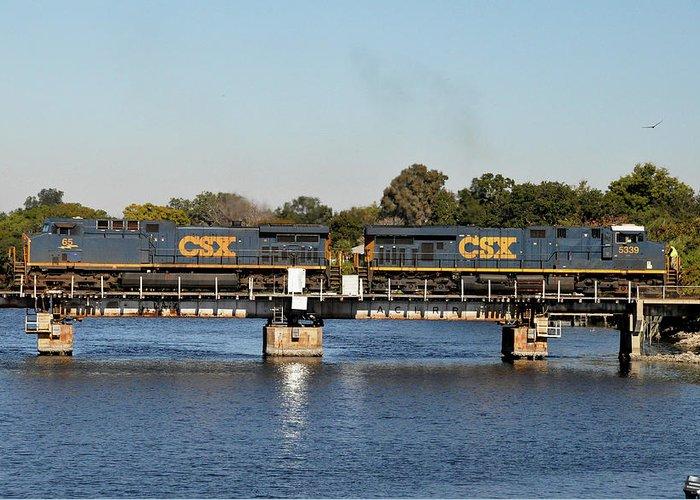 Csx Bridges Greeting Card featuring the photograph Csx On Mills Bayou by John Black