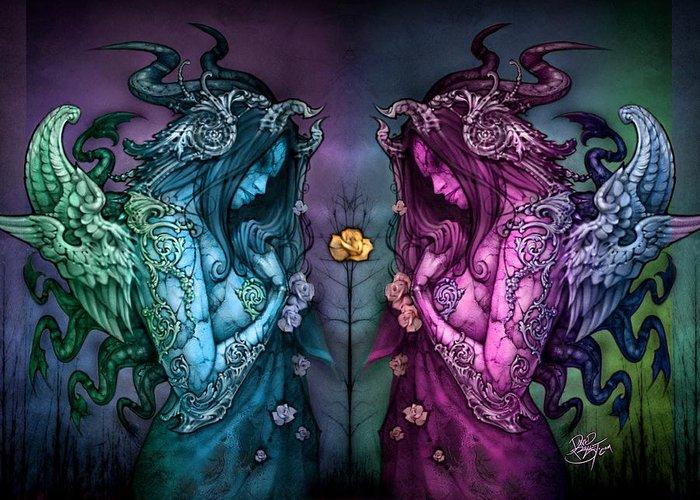 Fairy Greeting Card featuring the painting Cthluhu Rainbow by David Bollt