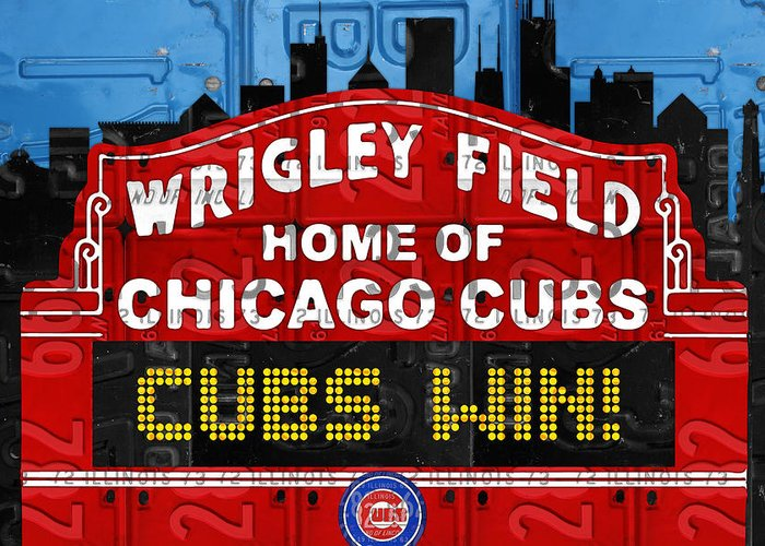 Chicago Cubs Art Greeting Cards