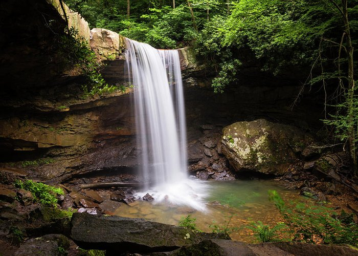 Cucumber Falls Greeting Card featuring the photograph Cucumber Falls #2 by Stephen Stookey