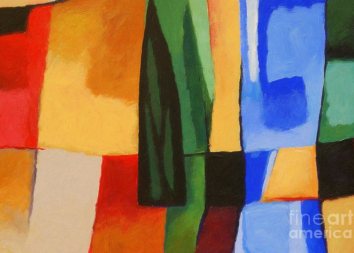 Abstract Painting Greeting Card featuring the painting Cultura by Lutz Baar