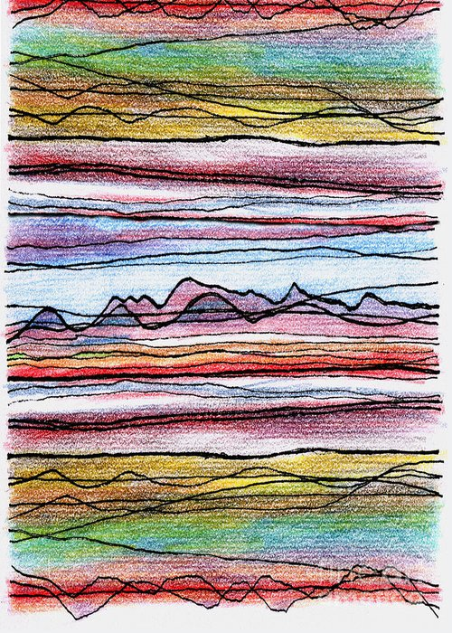 Cumbria Greeting Card featuring the digital art Cumbria Lines 2 by Andy Mercer