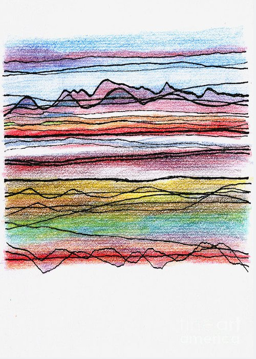Cumbria Greeting Card featuring the digital art Cumbria Lines by Andy Mercer